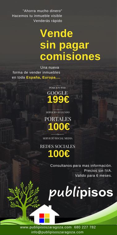 Inmobiliaria Online PUBLIPISOS, Vende sin Pagar comisiones.