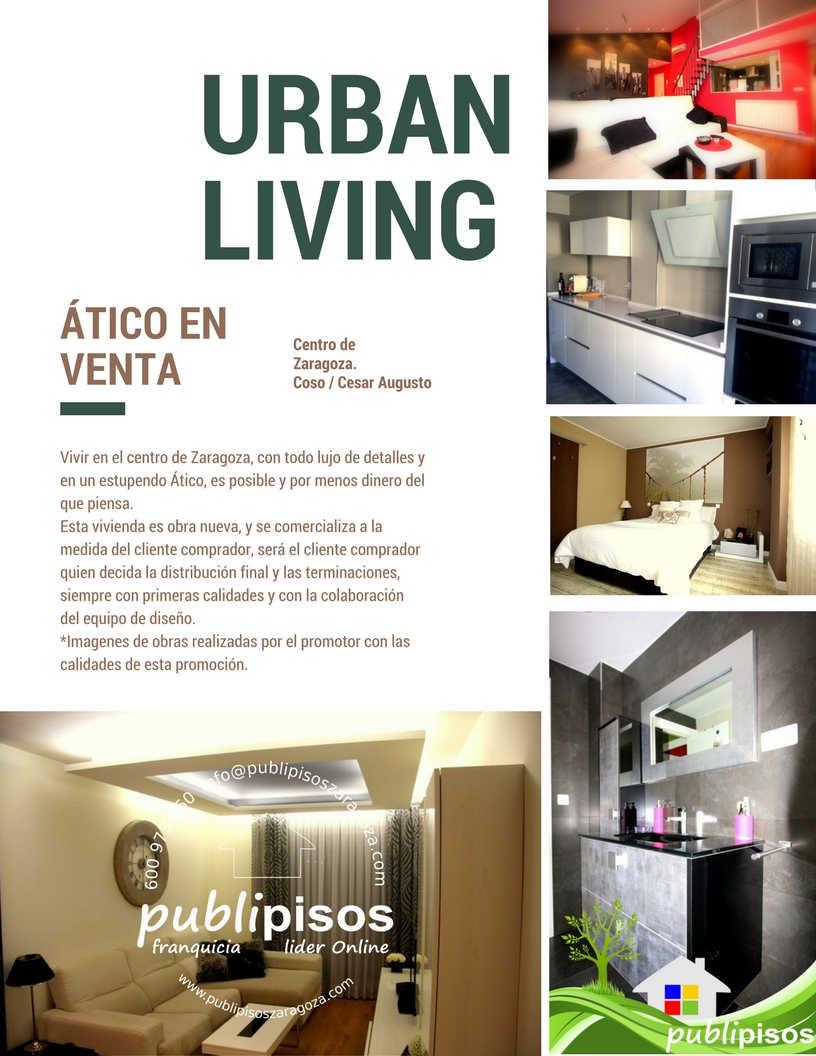 Venta Atico Duplex Obra Nueva Centro Casco Histórico ZaragozaPUBLIPISOS Inmobiliarias
