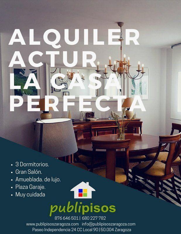 Piso Alquiler Actur Zaragoza 3 dormitorios