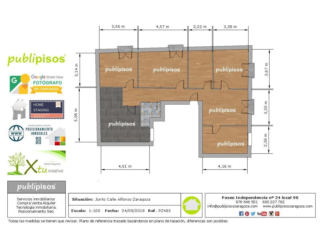 Plano para vender piso inmobiliarias Zaragoza