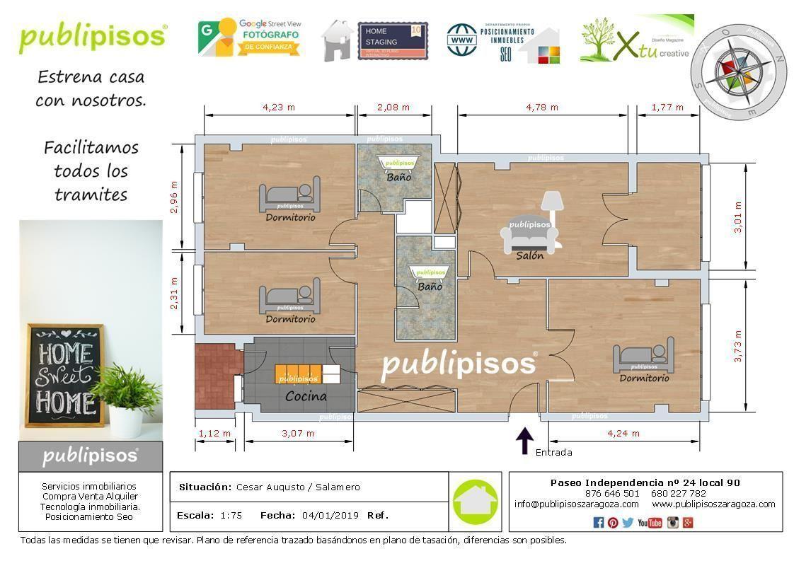 Venta efectiva de Pisos en Zaragoza