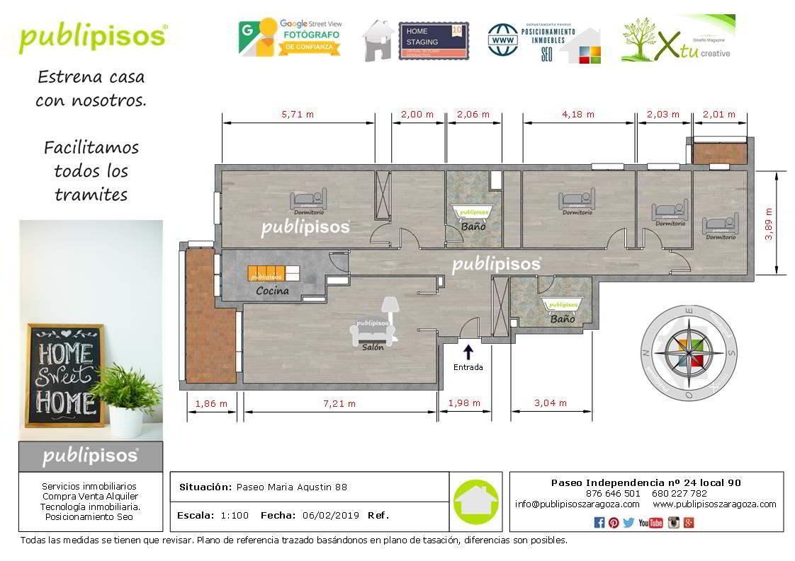 Plano piso venta plaza europa Publipisos inmobiliarias Zaragoza