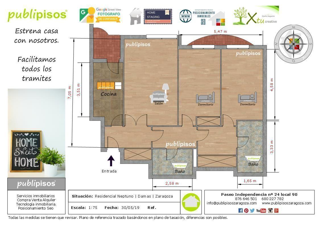 plano venta piso paseo damas centro zaragoza