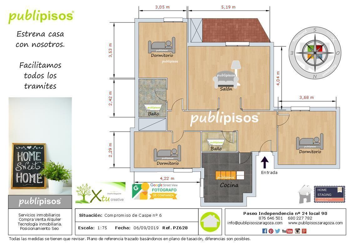 plano piso venta compromiso de Caspe Zaragoza_1