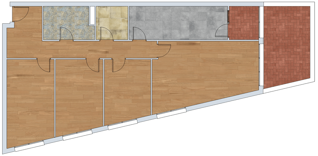 plano piso venta la puebla de alfinden Zaragoza