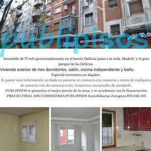 Piso en venta en Delicias Zaragoza de 77 m2