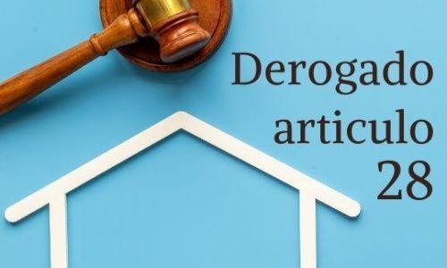 Derogación artículo 28 nueva ley hipotecaria