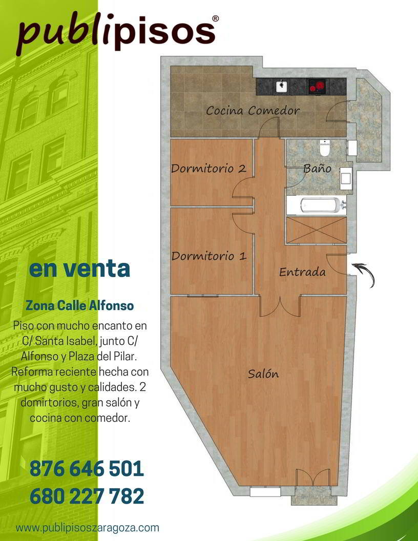 Piso en venta centro zaragoza alfonso plaza del pilar for Piso zaragoza centro